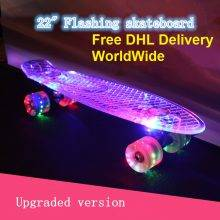 22″ Skate Transparent Banana Flashing LED light
