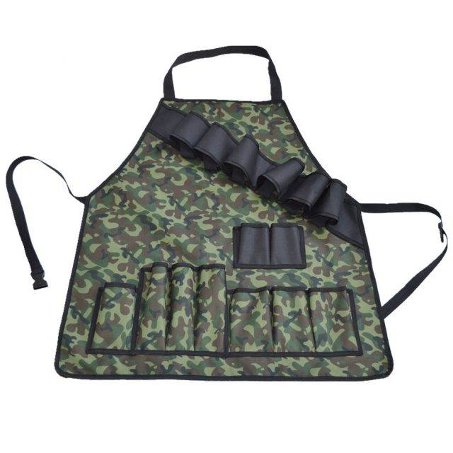BBQ Grill Apron With Tool Pockets and Beer/Spice Bottles Holder