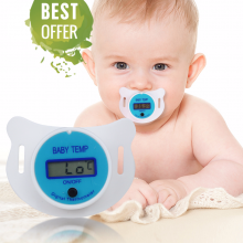 Medical Silicone Pacifier LCD Digital Children's Thermometer