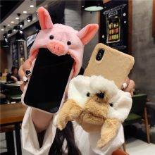 Fluffy Rabbit Hat Phone Case For Iphone