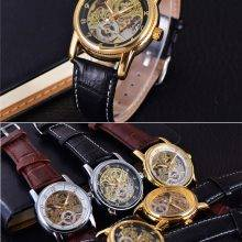 3D Mechanical  Military Skeleton Watch