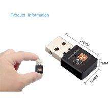 600Mbps USB Mini Wireless WiFi Adapter 2.4GHz 5GHz WiFi Antenna